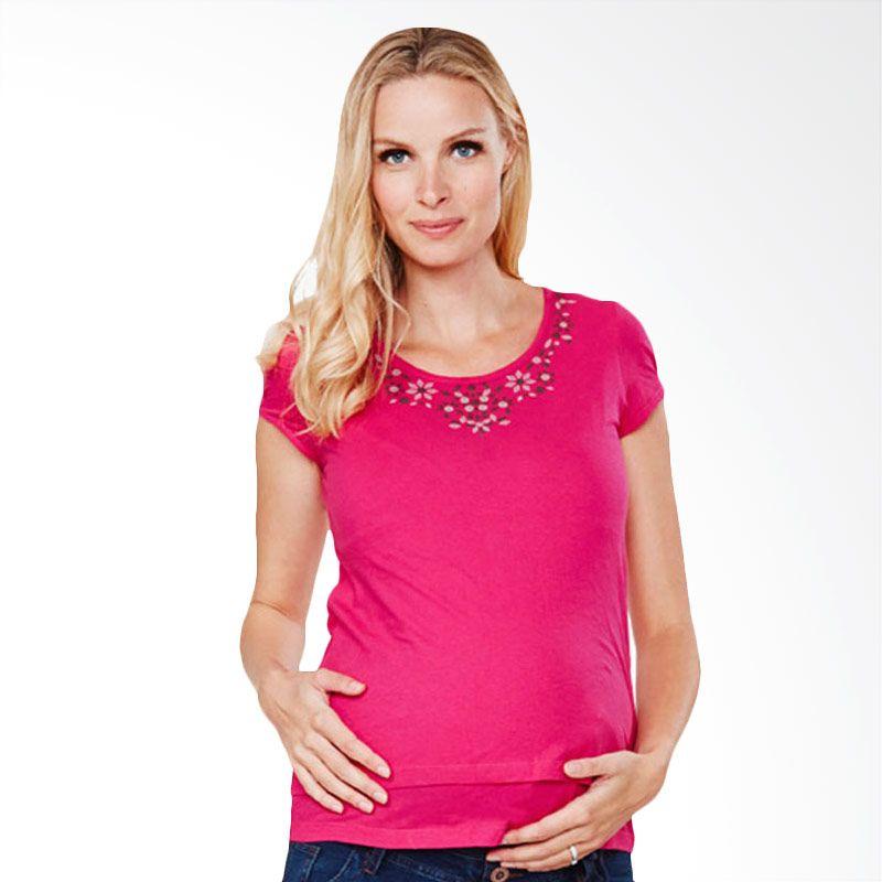 Mamaway Metallic Neckline Pink Baju Hamil dan Menyusui