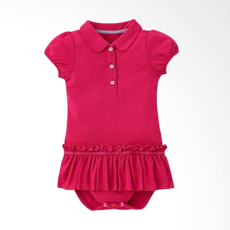 Mamaway Smart Cookie Polo Pink Dress Jumpsuit Bayi