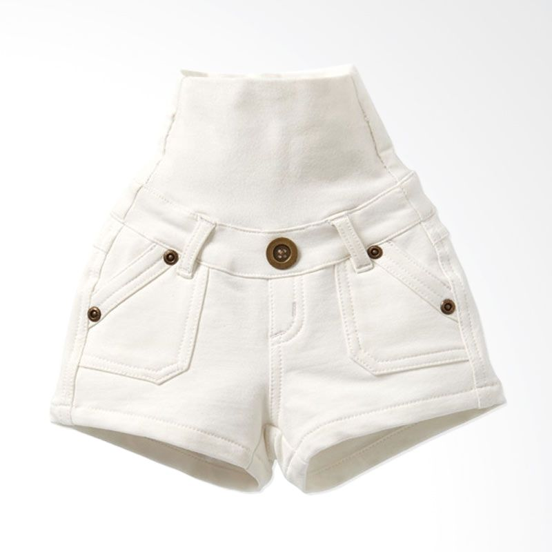Mamaway Super Soft Baby Pants White