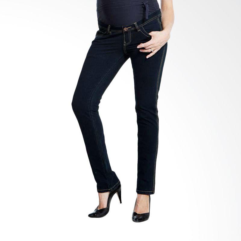 Mamaway Supersoft skinny Maternity Jeans Ibu Hamil & Menyusui Navy
