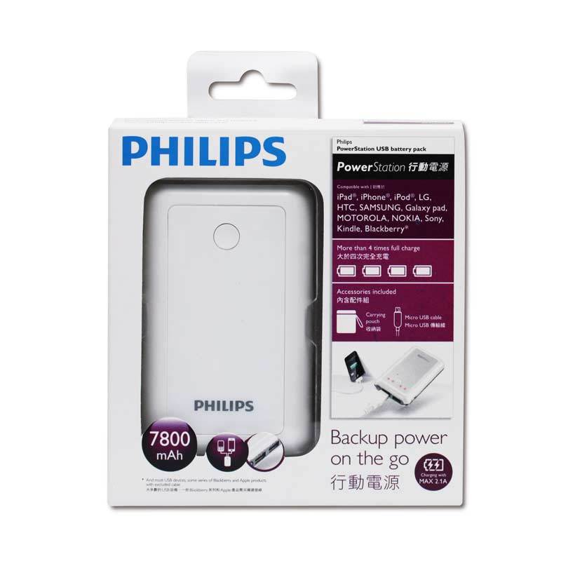 PHILIPS Power Bank DLP7800 [7800mAh/White]