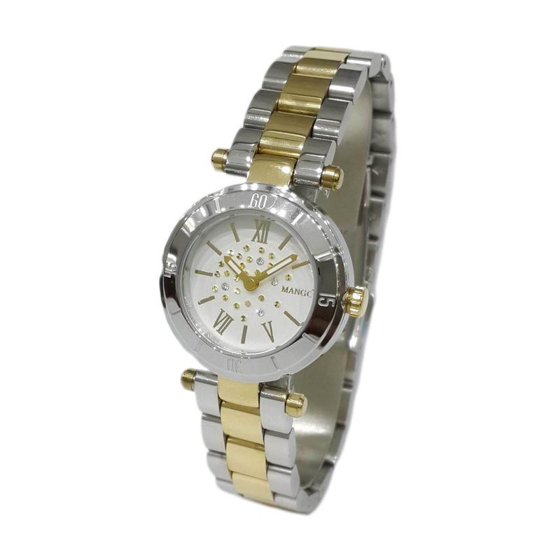 Mango MA6594L-2TK Silver & Gold Jam Tangan wanita