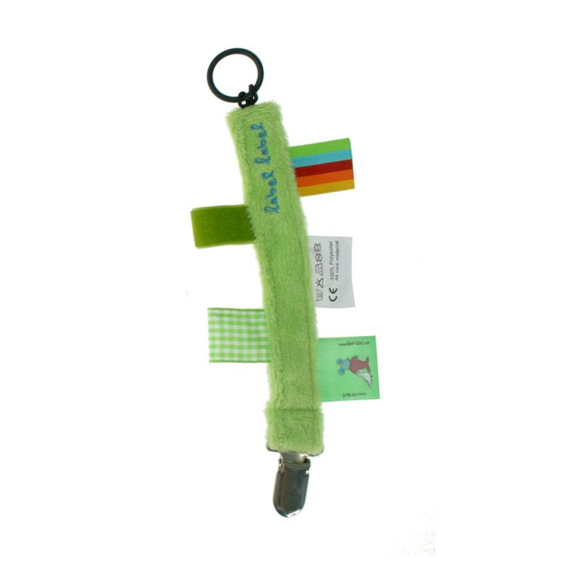 Label Label Pacifier Clip Green