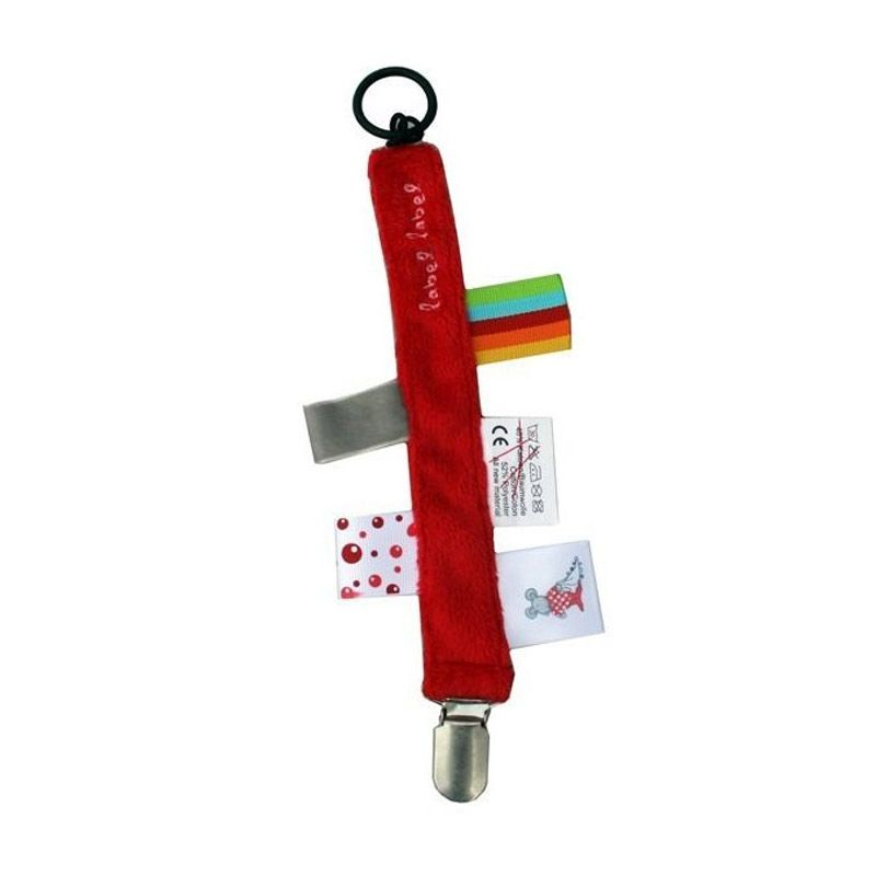 Label Label Pacifier Clip Red