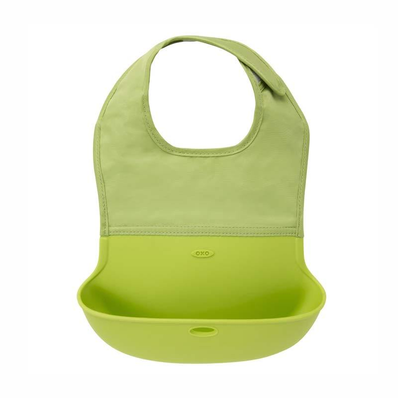 Celemek Bayi Oxo Tot Roll Up Bib Green
