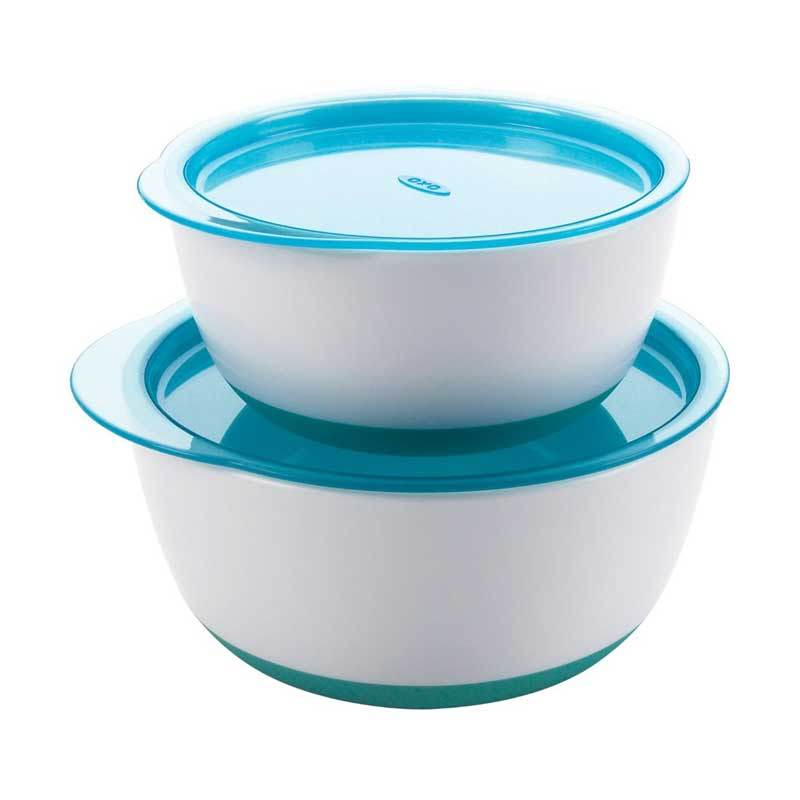 Oxo Tot Small and Large Bowl Set Aqua