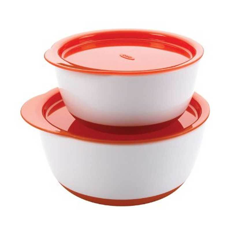 Oxo Tot Small and Large Bowl Set Orange