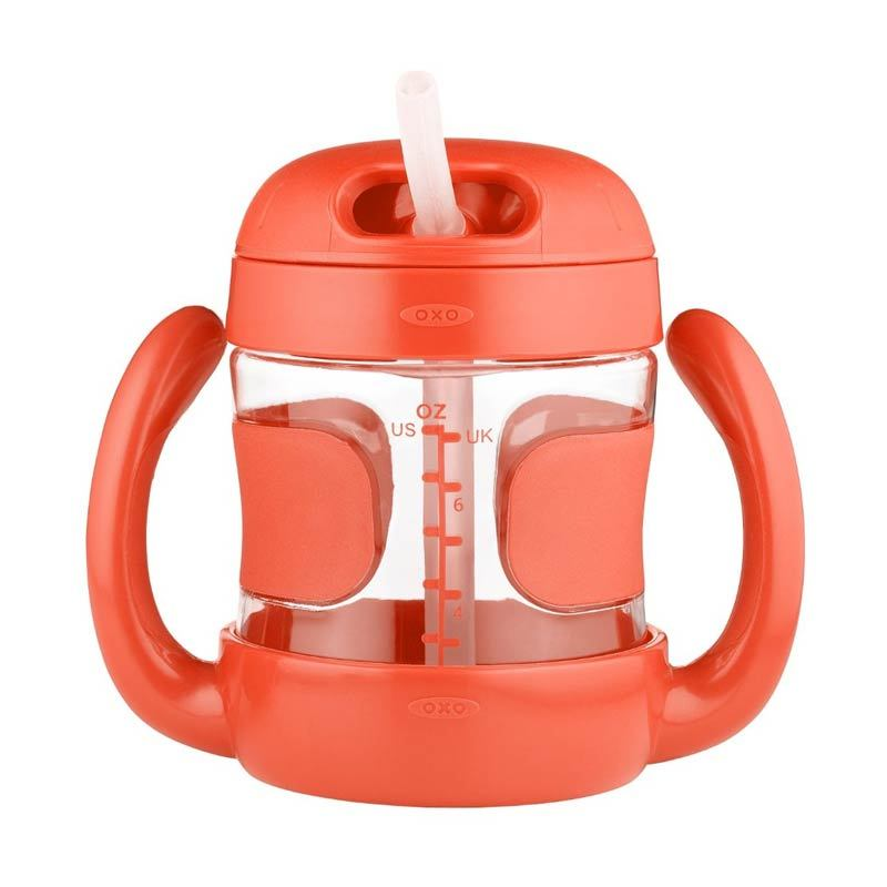 Oxo Tot Straw Cup With Handles Orange