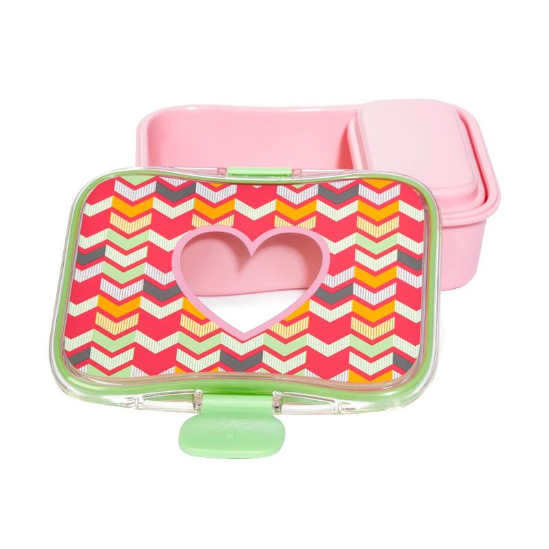 Skip Hop Forget Me Lunch Kit Heart Pink Kotak Makan