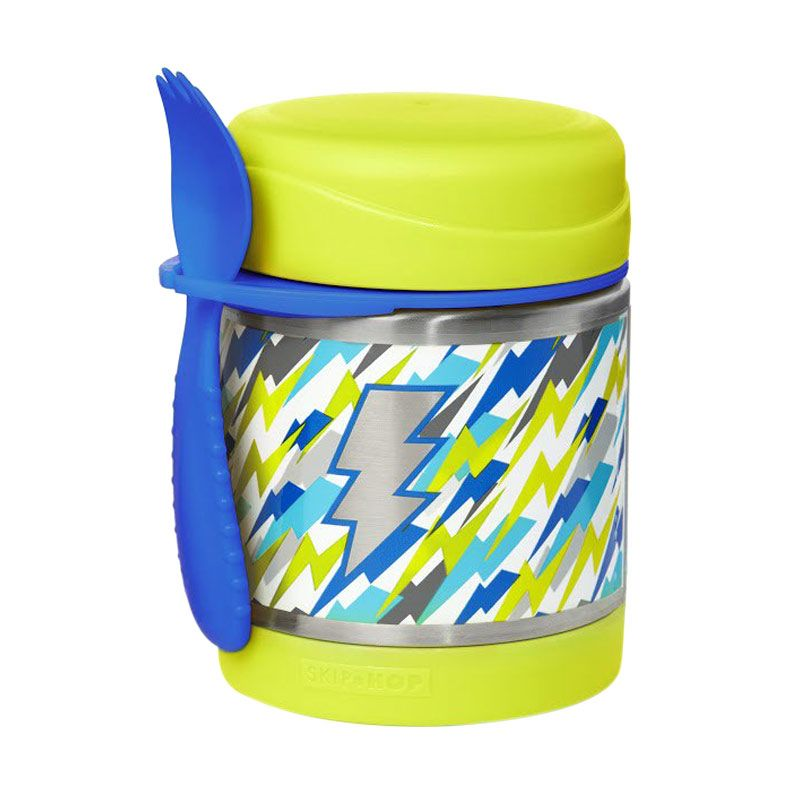 Skip Hop Forget Me Not Food Jar Lightning Green Termos Makan