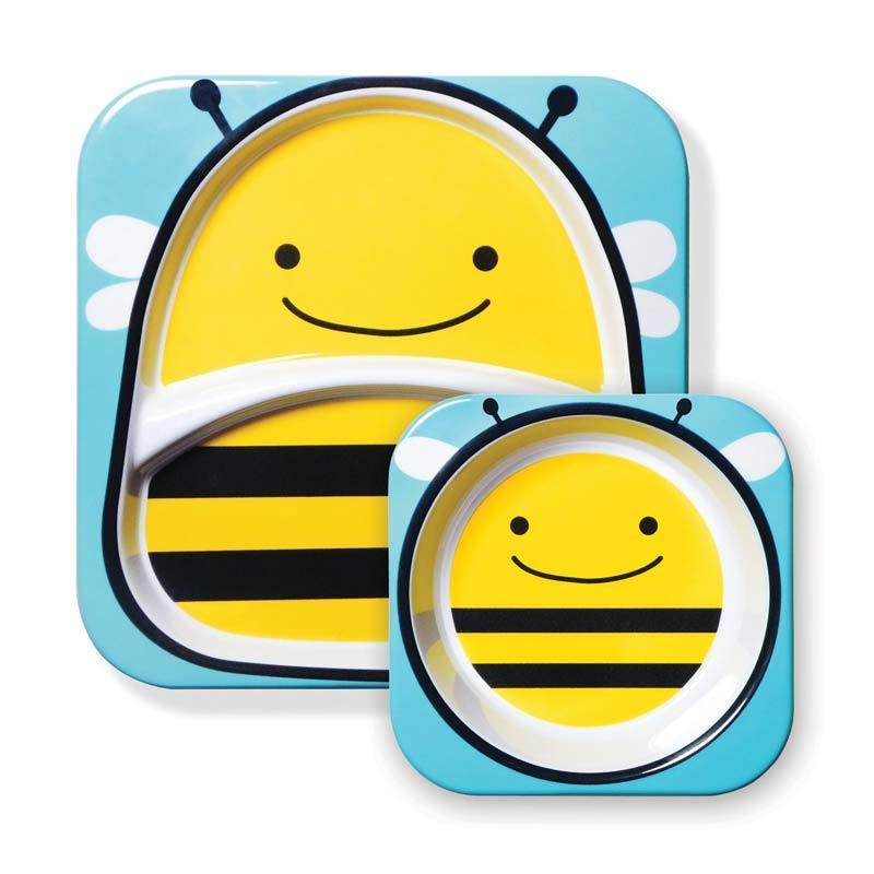 Skip Hop Melamin Plate & Bowl Bee