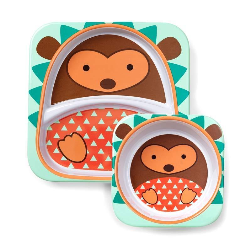 Skip Hop Melamin Plate & Bowl Hedgehog