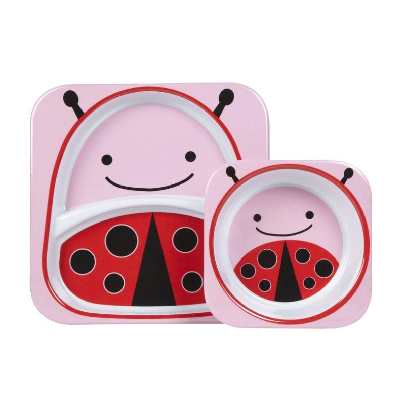 Skip Hop Ladybug Melamin  Piring dan Mangkuk Bayi