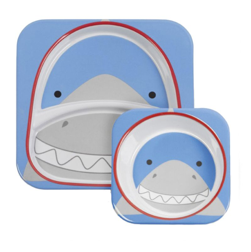 Skip Hop  Shark Melamin Piring dan Mangkuk Bayi
