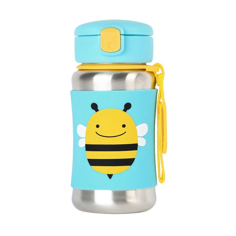 Skip Hop Stainless Straw Bee Green Botol Minum