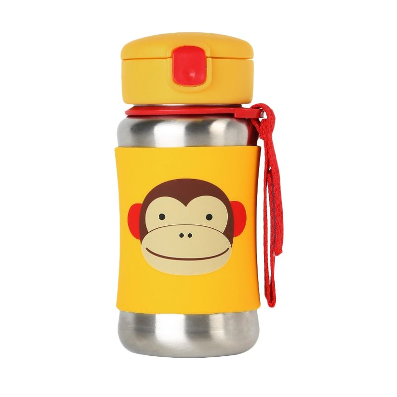 Skip Hop Stainless Straw Monkey Yellow Botol Minum