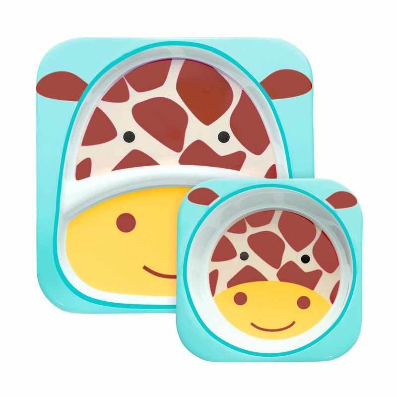 Skip Hop Zoo Melamin Set Plate & Bowl Giraffe