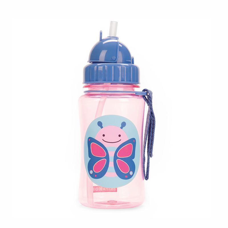 Skip Hop Zoo Straw Bottle Butterfly Botol Minum Anak