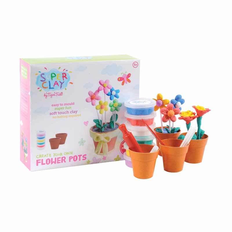 Tiger Tribe Super Clay Flower Pot - Mainan Anak