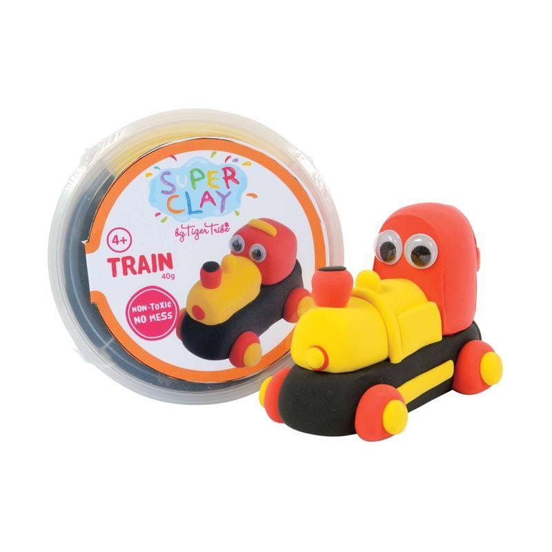Tiger Tribe Super Clay Mini Tub Boys Train