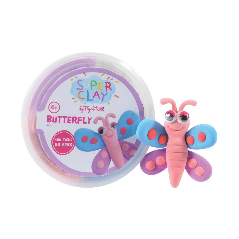 Tiger Tribe Super Clay Mini Tub Girls Butterfly