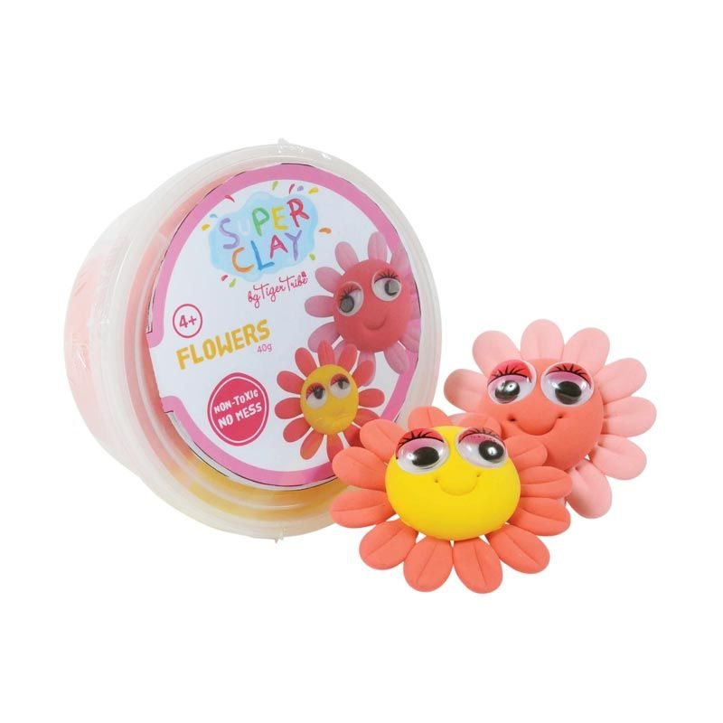 Tiger Tribe Super Clay Mini Tub Girls Flower