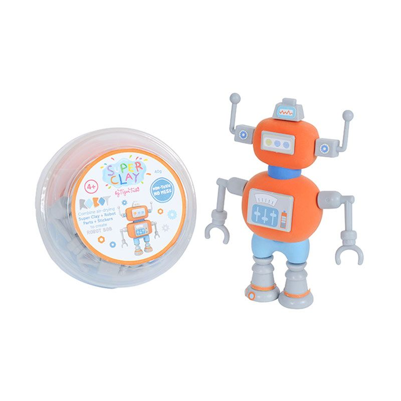 Tiger Tribe Super Clay Mini Tub Robot Bob