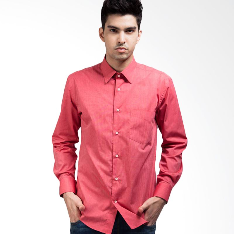 Manly End On End Structured Shirt In Magenta