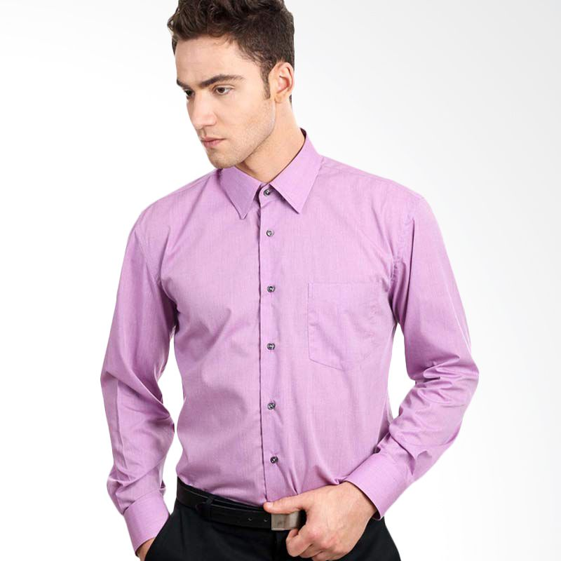 Manly End On End Structured Shirt In Purple
