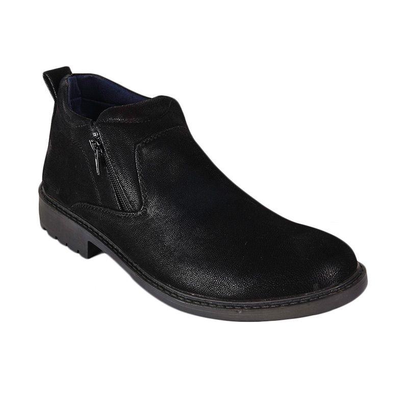Marco Cuomo Formal A7317-2 Black Sepatu Pria