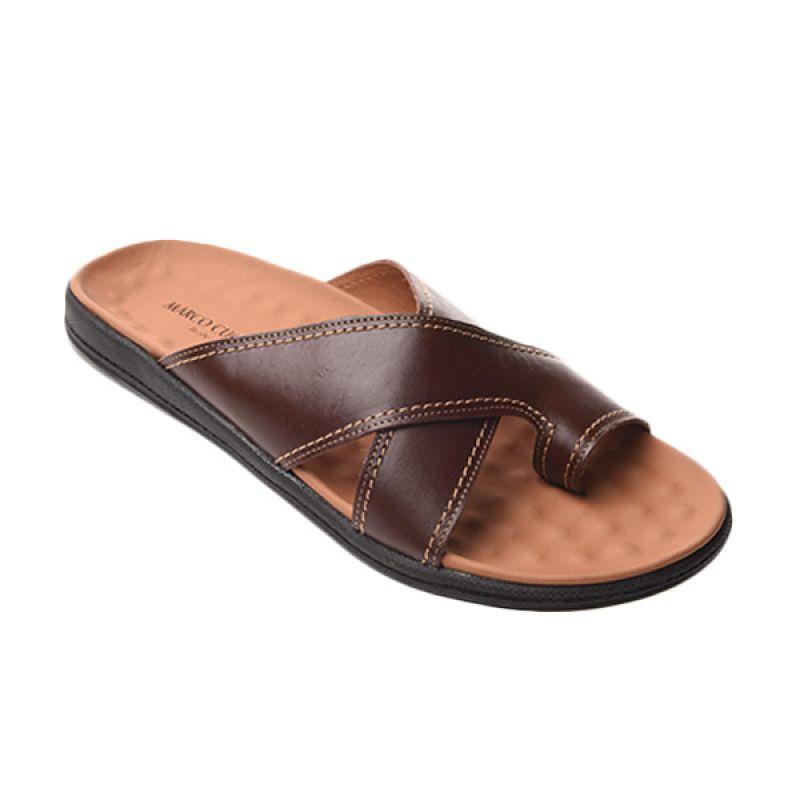 Marco Cuomo JA 01 Brown Sandal Pria