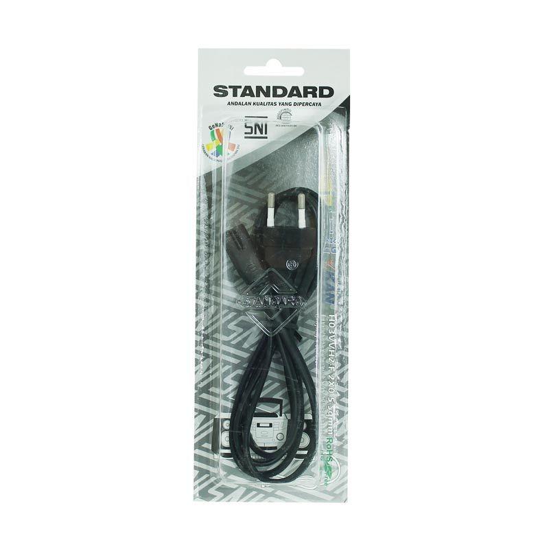 Standard 14034 1.6M Kabel Power Tape Bentuk 8 2 Kabel SNI