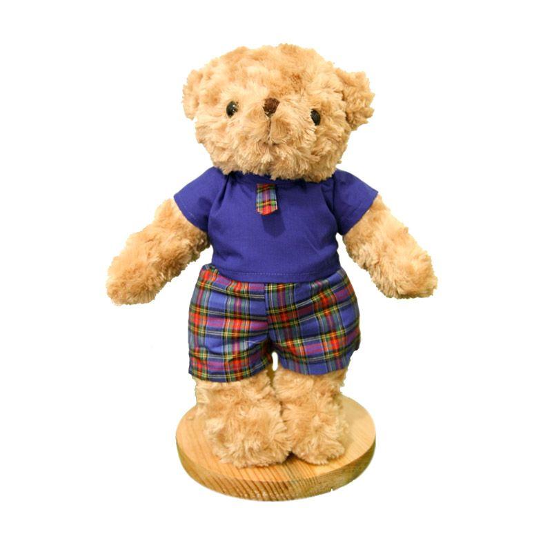 Maru Cute Teddy Bear + Casual Boy Boneka
