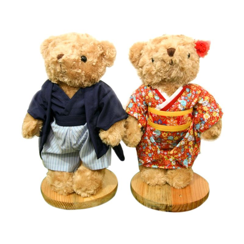Maru Cute Teddy Bear + Couple Japan