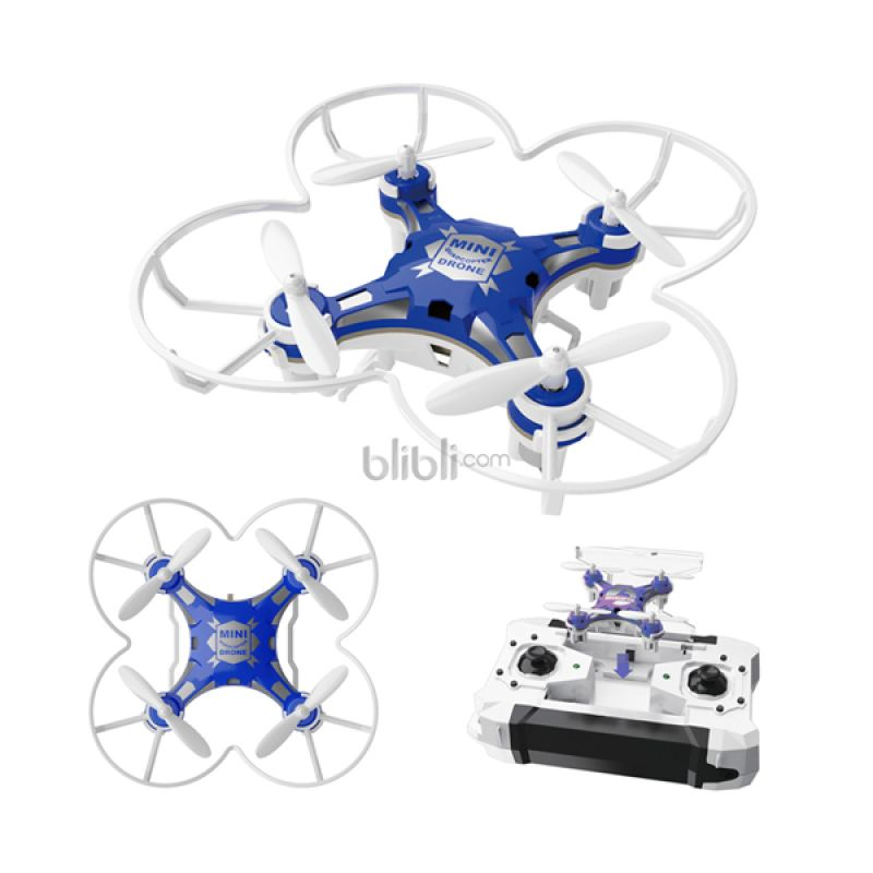 Blackhawk FH222 4 CH 6 Axis Micro Drone w/Headless Mode & Auto Return Blue Mainan Remote Control