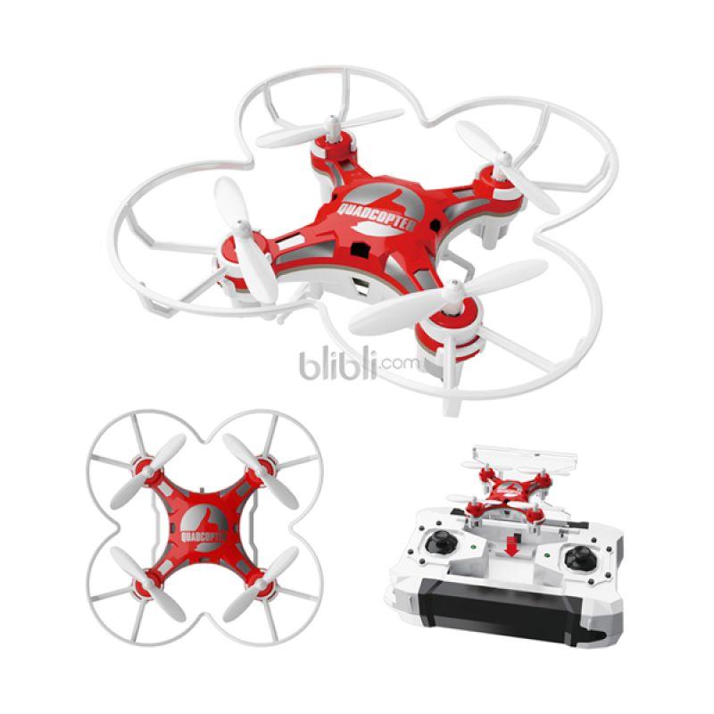 Blackhawk FH222 4 CH 6 Axis Micro Drone w/Headless Mode & Auto Return Red Mainan Remote Control