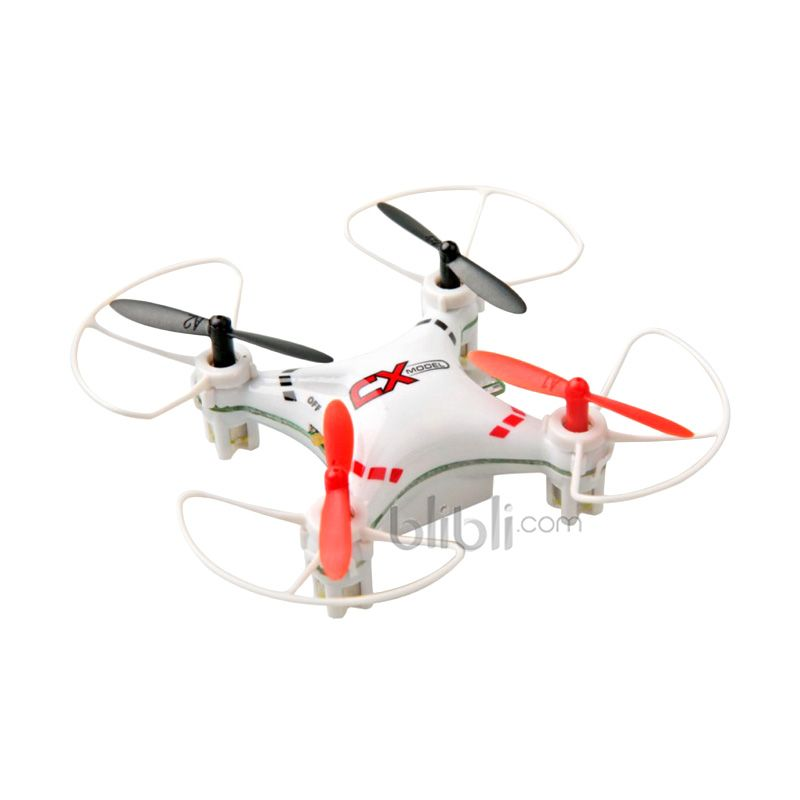 Cheerson CX-023 4 Channel 6 Axis Nano Drone with LED Lights Putih Mainan Remote Control [2.4 Ghz]