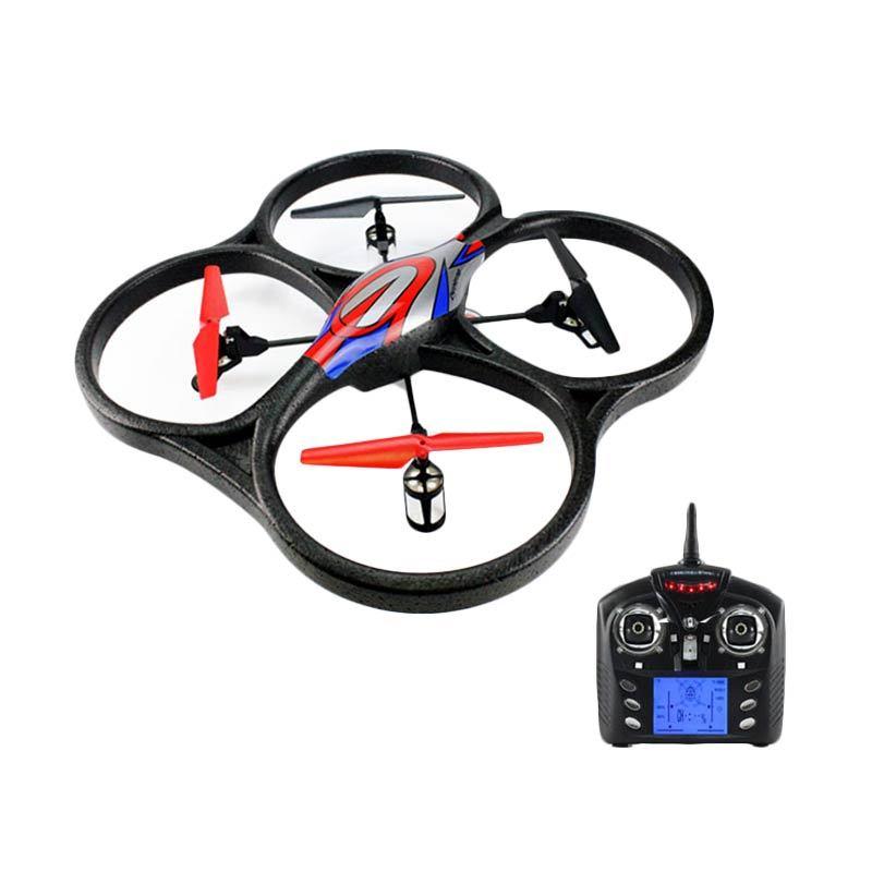 harga WL TOYS V262 6 Axis RTF Giant Cyclone Quadcopter Drone Radio Control (RC) - Blue Blibli.com