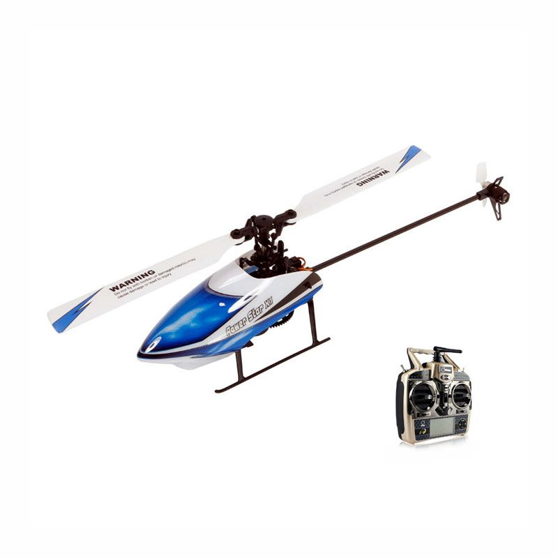 WL Toys V977 6 Channel 2.4 GHz Brushless Motor 3D/6G Flybarless RC Helicopter with Gyro