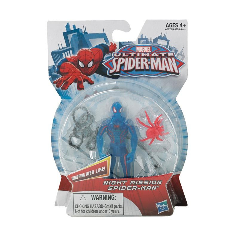Marvel Ultimate Spider-Man Action Fighting Night Mission Mainan Anak