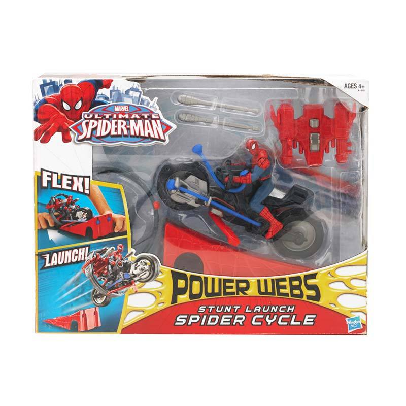 Marvel Ultimate Spider-Man Power Webs Spider Cycle Mainan Anak