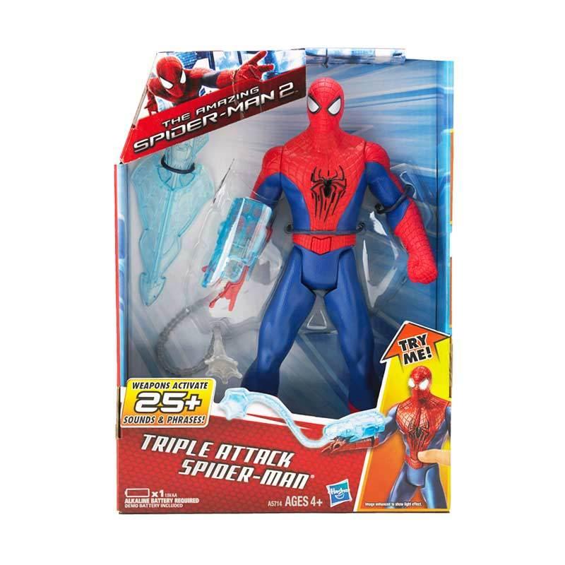 Marvel Ultimate Spiderman Tripel Attack Mainan Anak