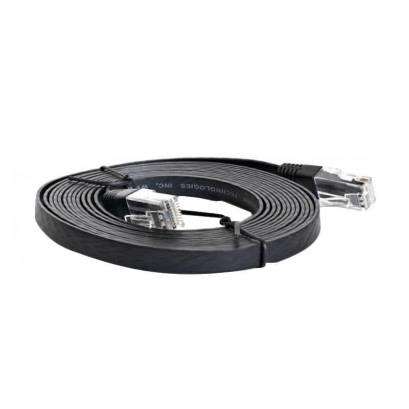 Eacan Cat 6e 27090001 Hitam Kabel Flat LAN [10 m]