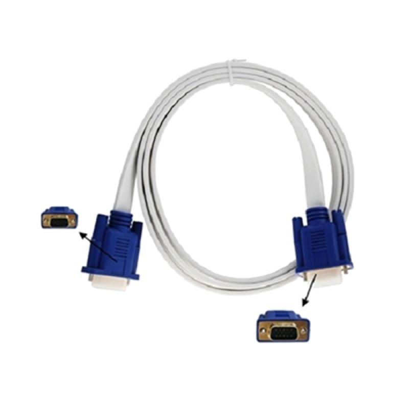 Eacan Flat Putih Kabel VGA [1.5 m]