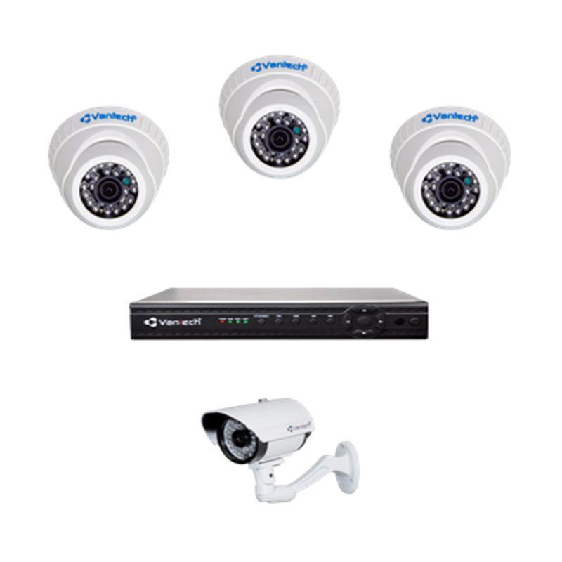 Vantech Paket Kamera CCTV [4 Channel]