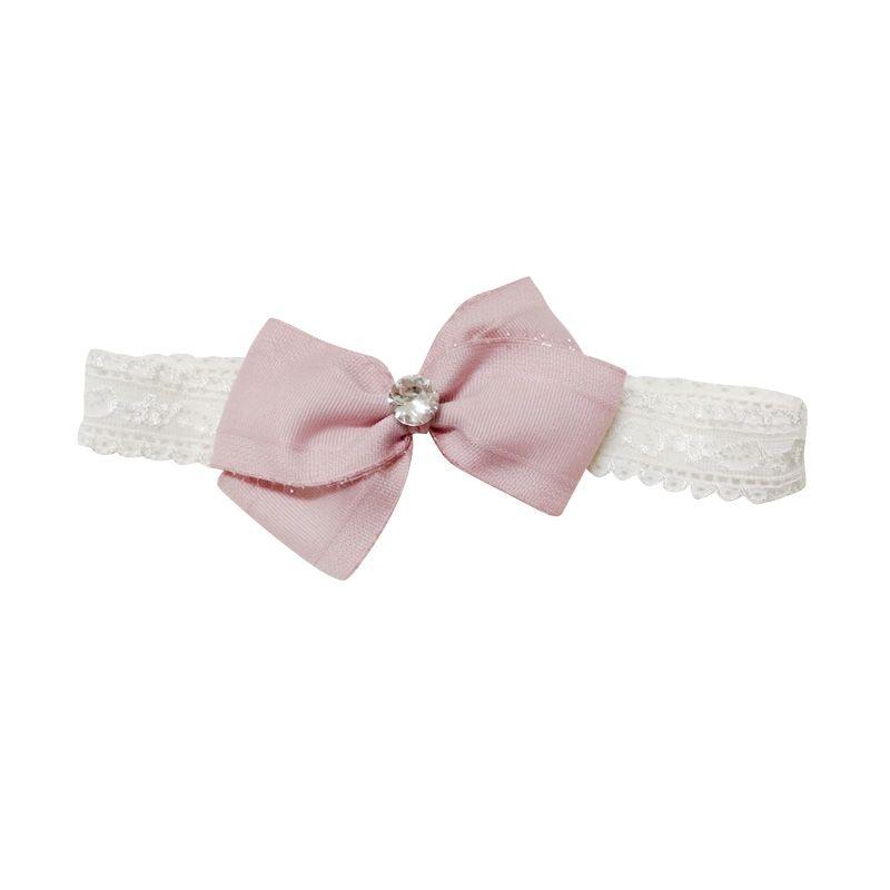 Mauveine Bandana Anastacia Bow Rhinestone Dirty Pink