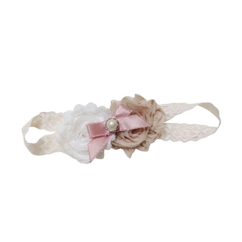 Mauveine Bandana Shabby Bouquet Beige White