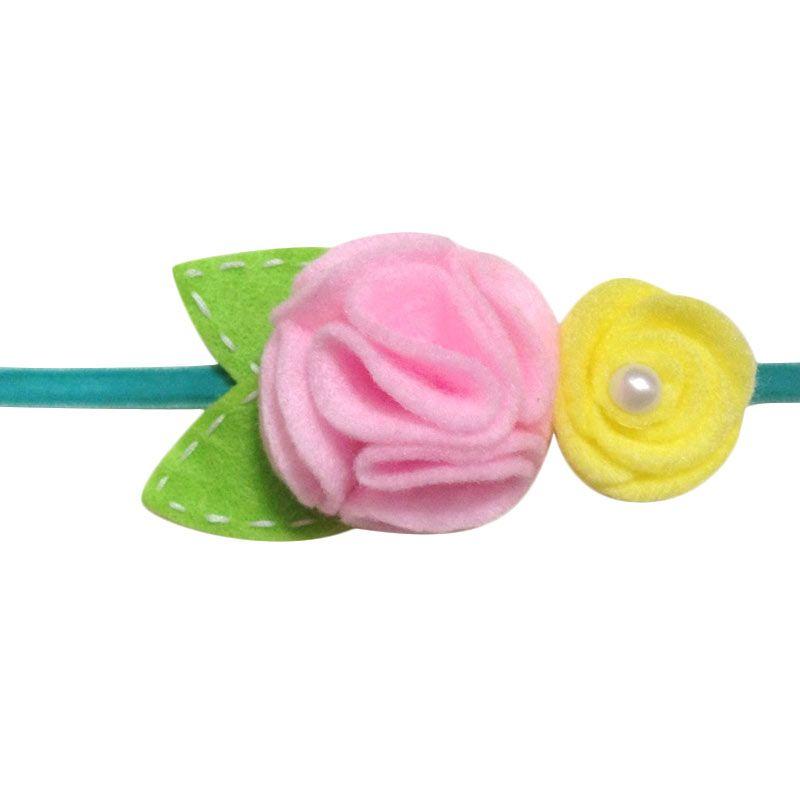Mauveine Bandana Sweet Flowers Baby Pink Yellow