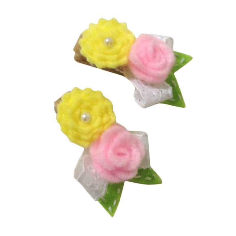 Mauveine Clip Sweet Mini Bouquet Pink Yellow