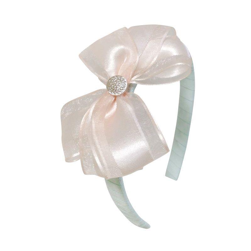 Mauveine Headband Classic Bow Soft Peach